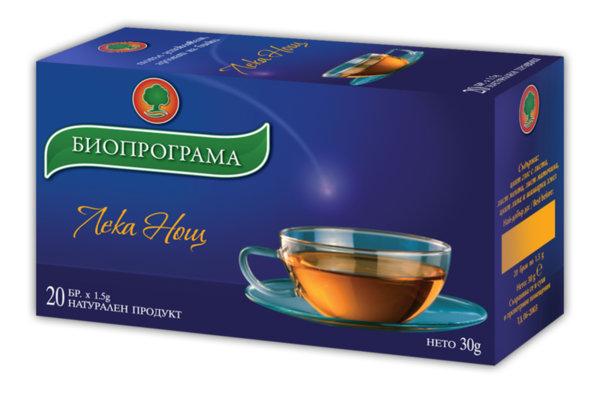 Чай Лека нощ филтър 20 бр. Биопрограма